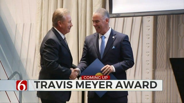 News On 6's Travis Meyer Receives Award From Gov. Stitt