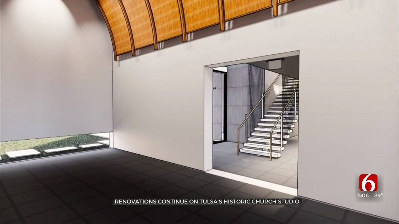Renovations Continue At Former Leon Russell Church Studio In Tulsa