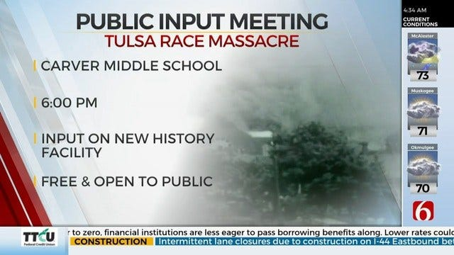 Tulsa Race Massacre Commission Holds Public Meeting