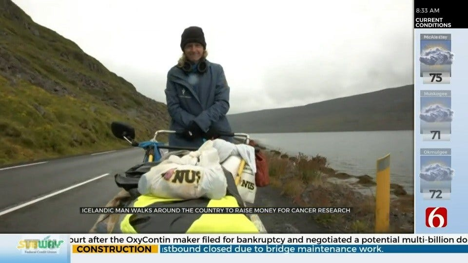 Man Walks 18,000 Miles To Remember Grandmother, Support Icelandic Cancer Society