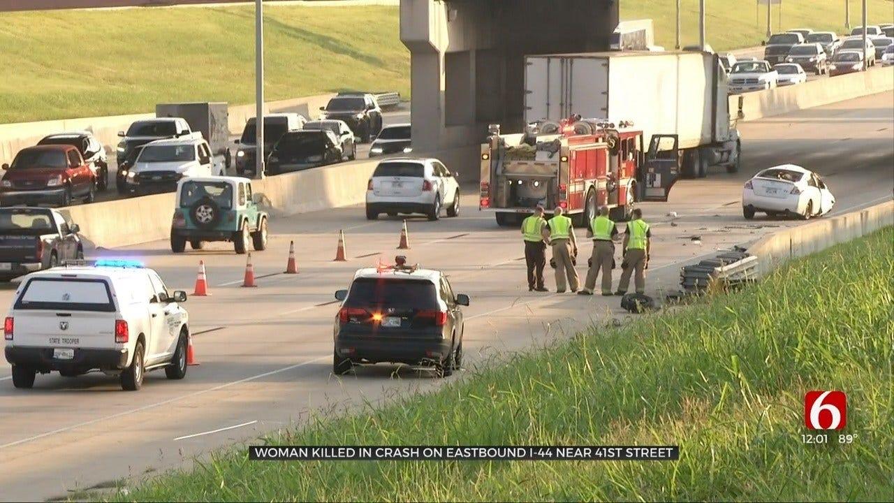 Tulsa Woman Killed In Rollover Crash On I-44