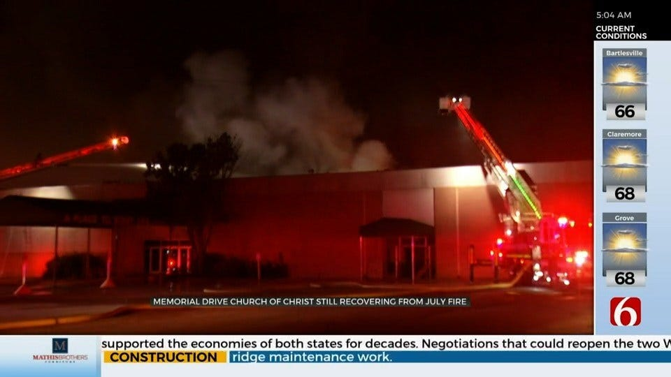 Church Recovering After Fire, Reopens Food Pantry