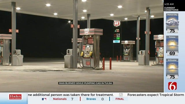 Man Recovering After Being Burned By Gas Pump Fire