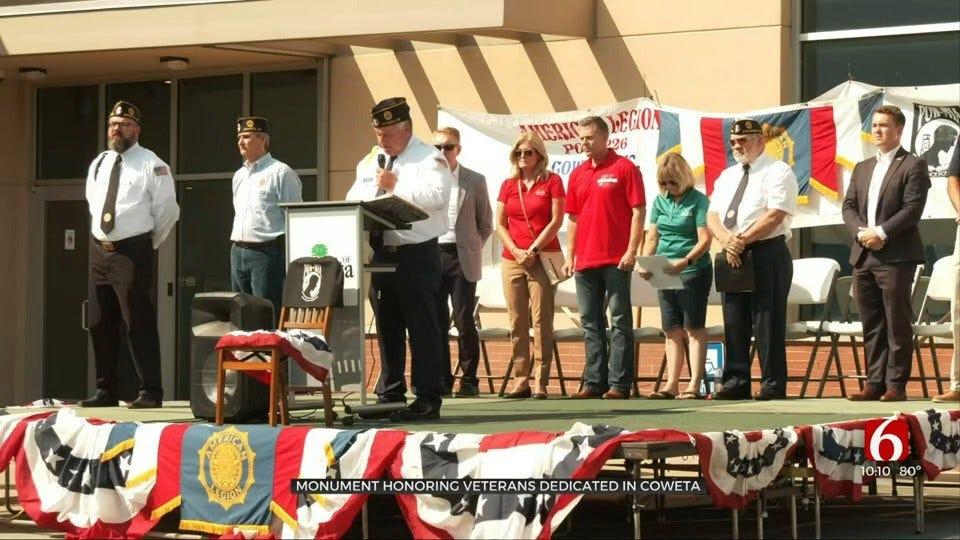 Monument Honoring Veterans Dedicated In Coweta