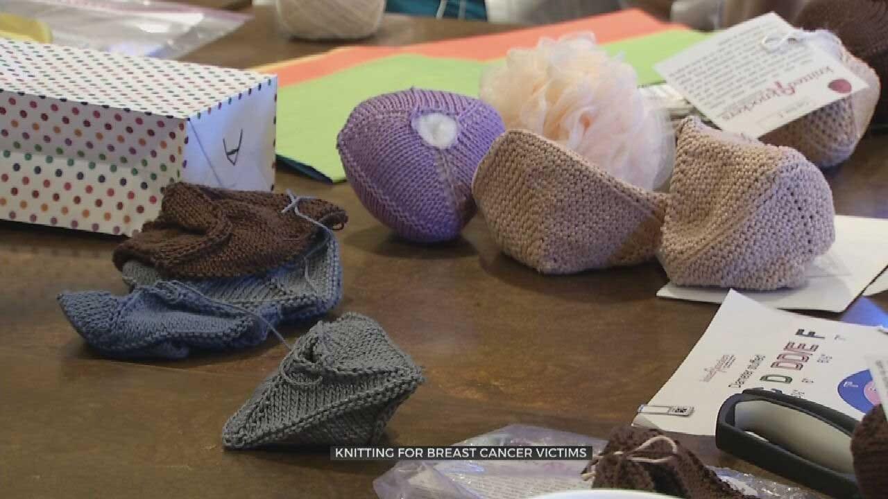 Montereau 'Knocker Knitters' Make Handmade Breast Prostheses For Women In Need