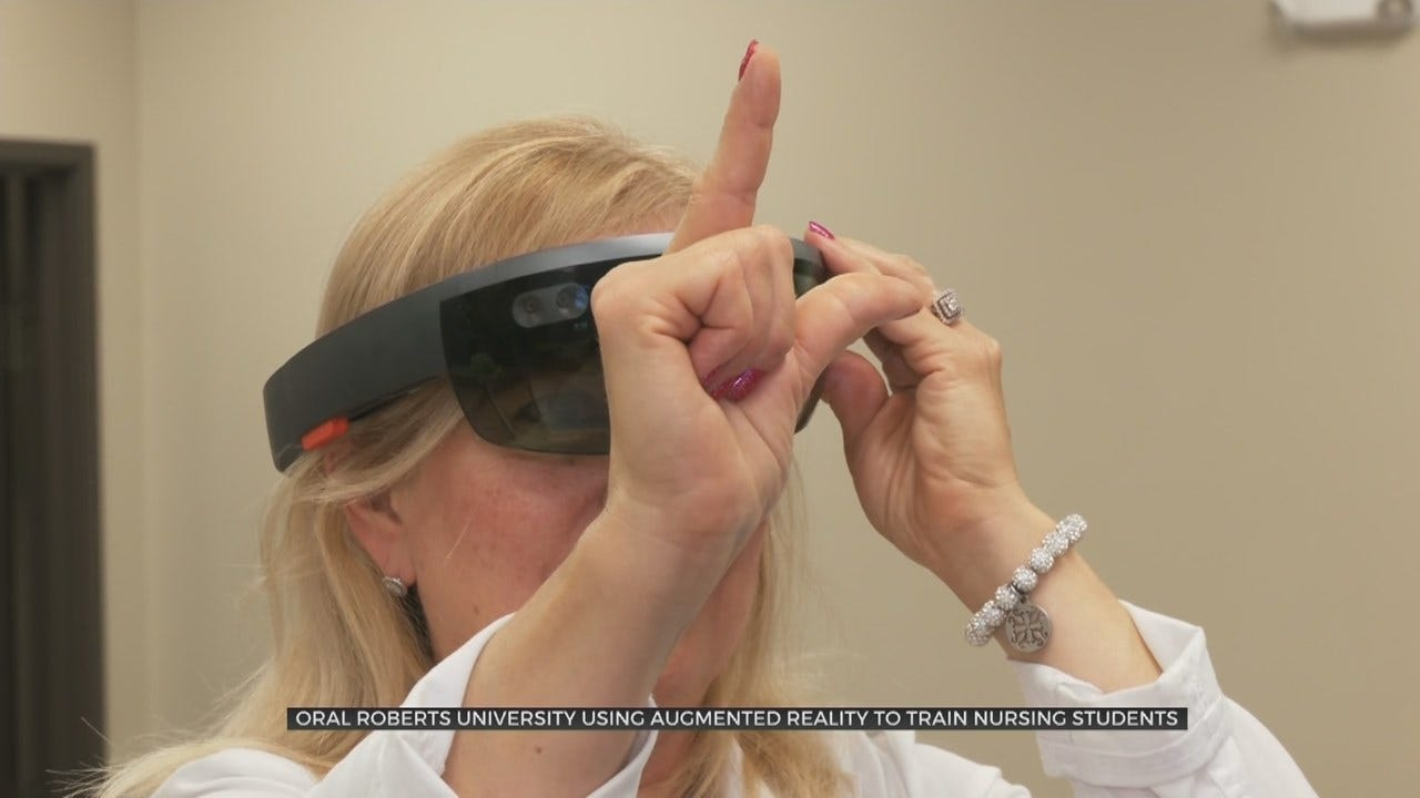 ORU Nursing Program Uses New Augmented Reality Program For Learning