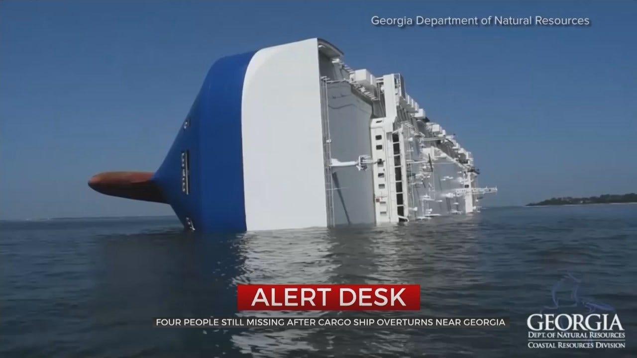 Coast Guard Rescues 3 Crewmen Capsized Ship