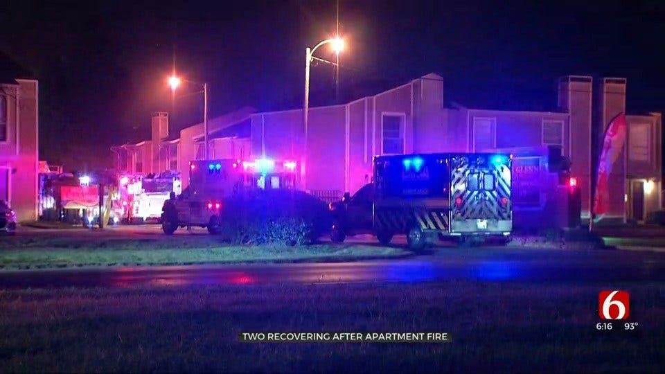 2 Victims Recovering After Jumping From Building In Tulsa Apartment Fire