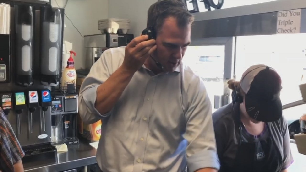 Governor Stitt Works Taco Bell Shift To Promote State Restaurant Industry