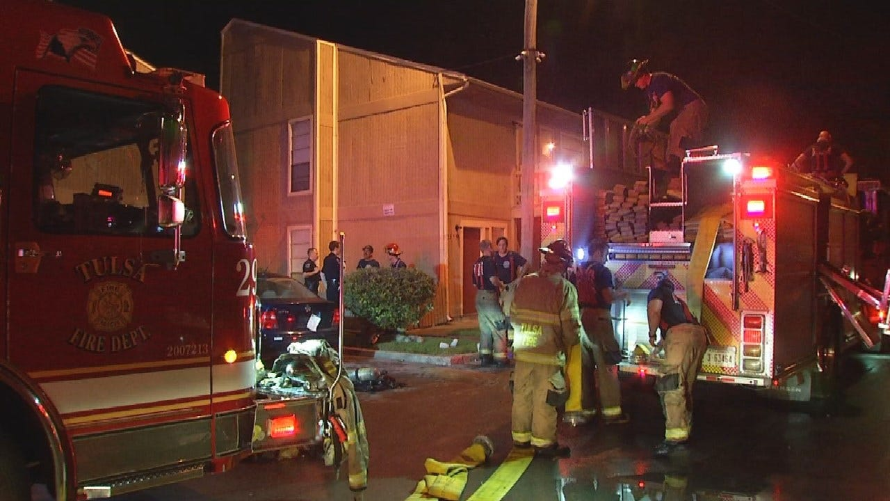 1 Sent To Hospital After Tulsa Apartment Fire