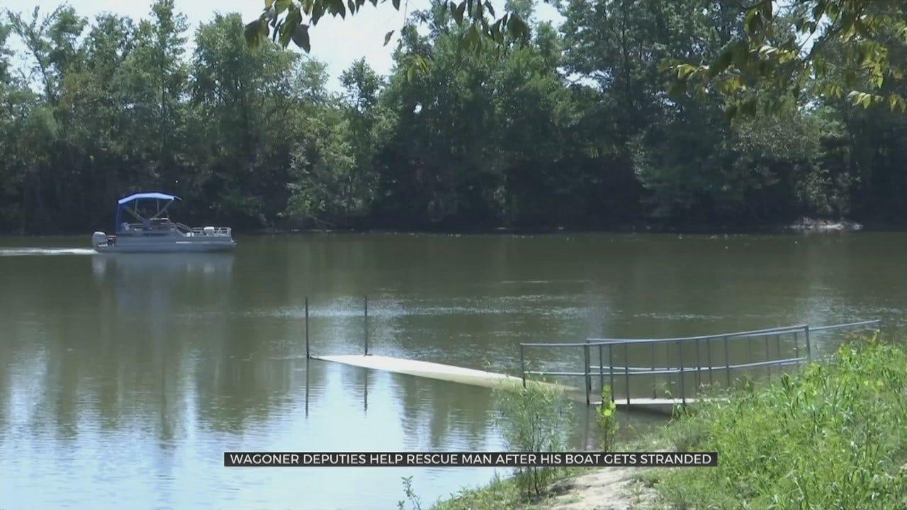 Wagoner Co. Deputies Save Fisherman Stranded On Verdigris River