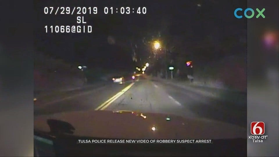 WATCH: Bodycam Footage Shows Robbery Suspect Leading Tulsa Police On Chase