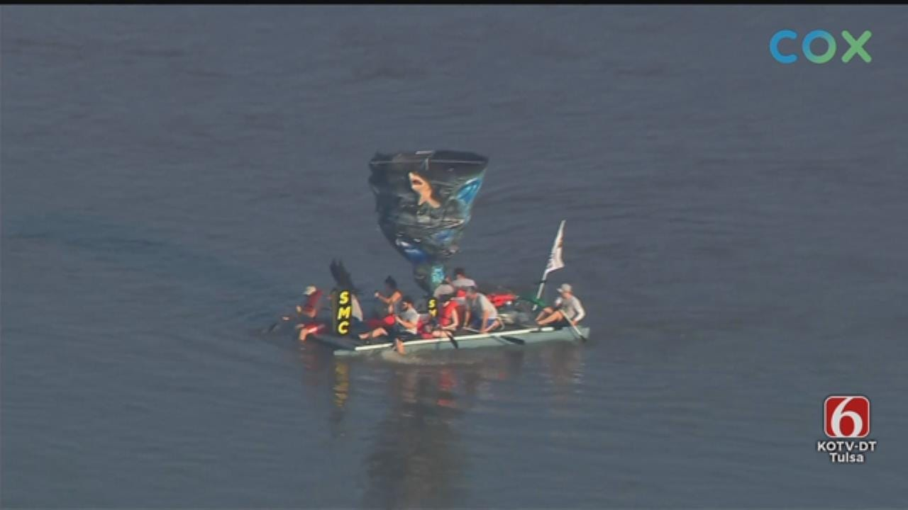 WATCH: Rafts Float Down The Arkansas River For The Great Raft Race