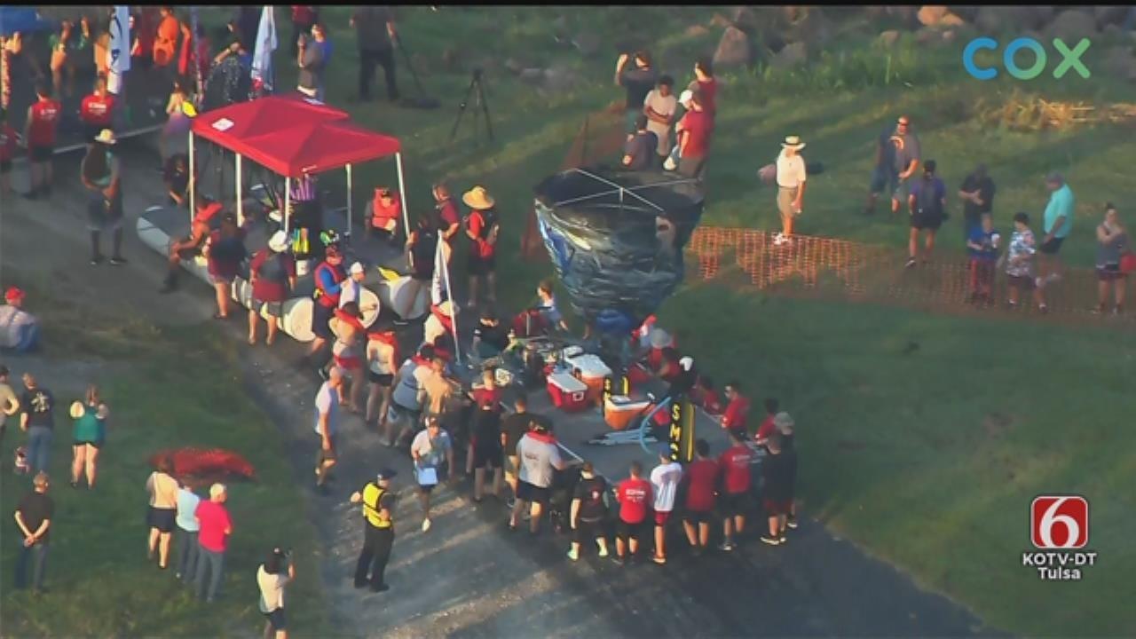 WATCH: Tulsa's Great Raft Race Starts