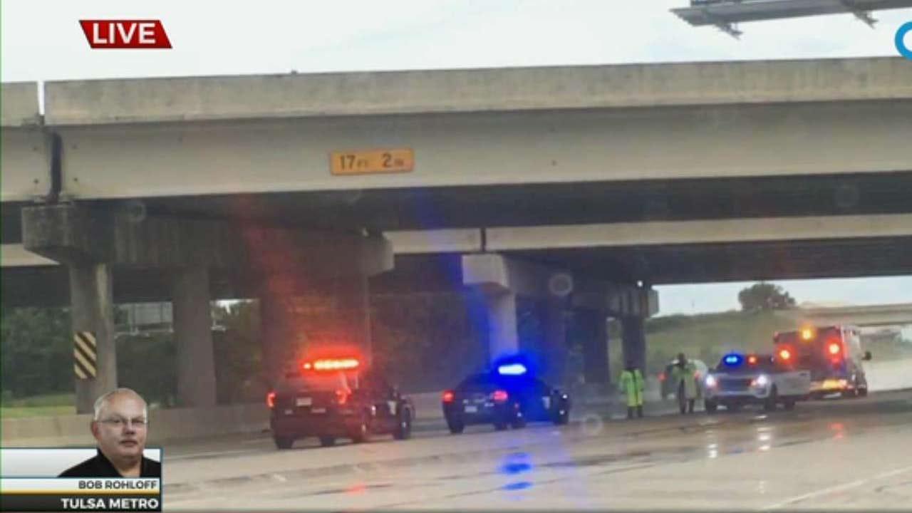 WATCH: Stolen Ambulance Chase Ends On Muskogee Turnpike