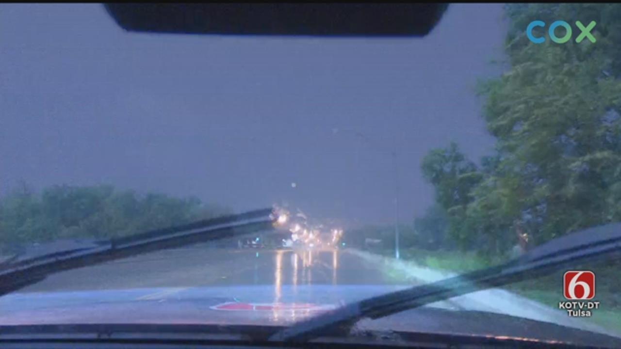WATCH: News On 6 Storm Tracker Von Castor Tracks Storms, Heavy Rain In The Tulsa Area