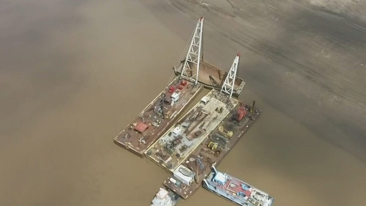WATCH: Osage Drone 6 Gets Aerial View Of Barge Removal