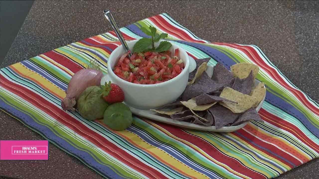 Strawberry, Tomatillo & Watermelon Salad
