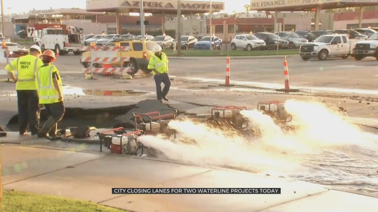 2 Water Line Repair Projects Start, Could Impact Tulsa Drivers