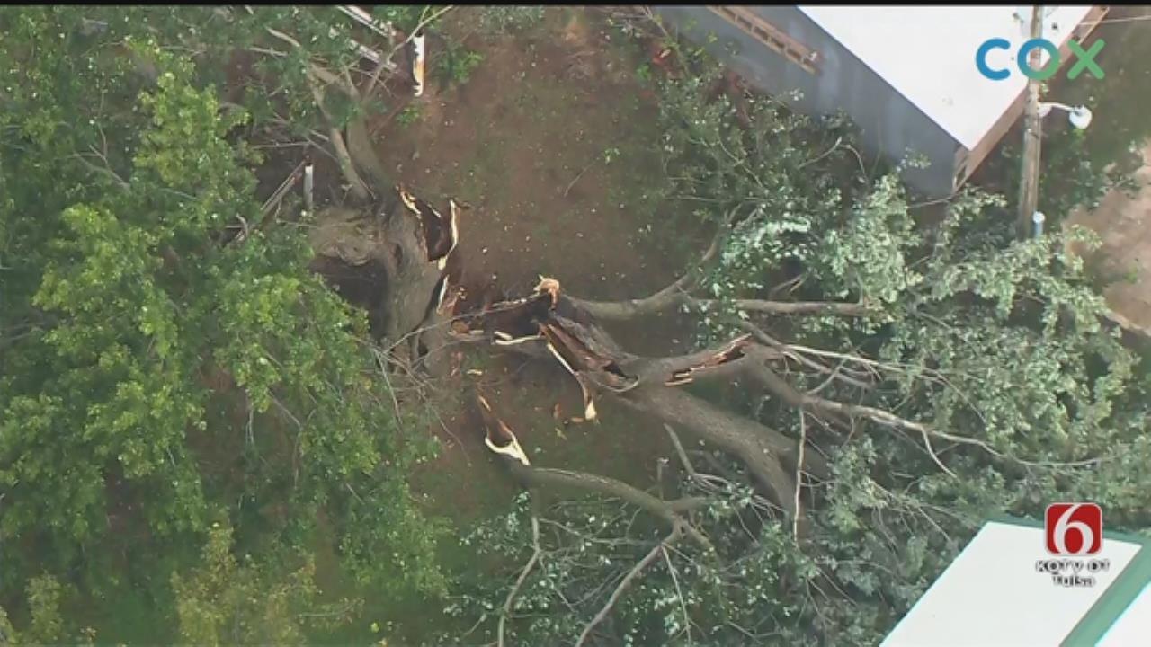 Osage SkyNews 6 HD Flies Over Adair-Area Storm Damage