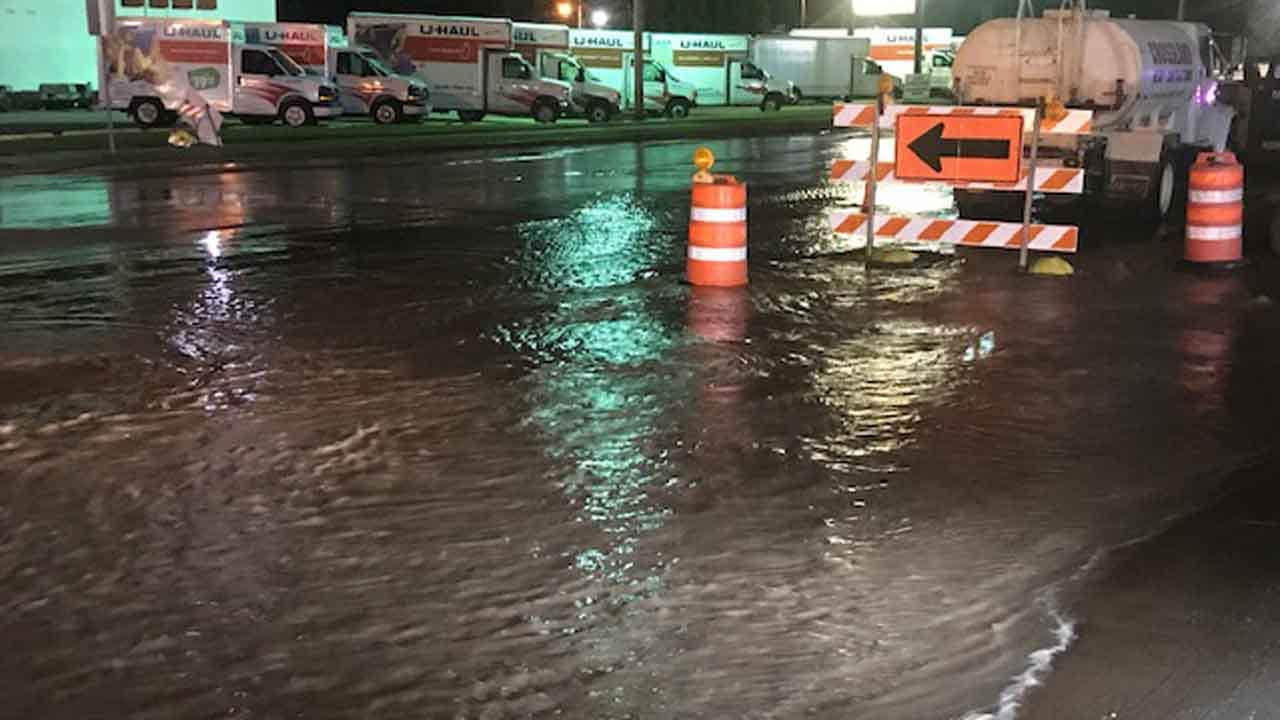 WATCH: Water Break Leaves Several Tulsa Businesses Without Water