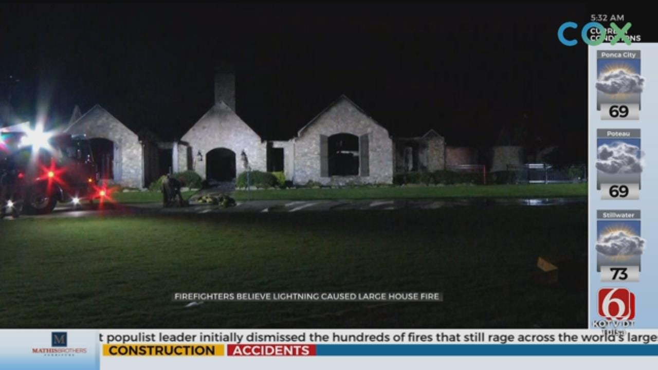 Talala House Fire Likely Caused By Lightning Strike