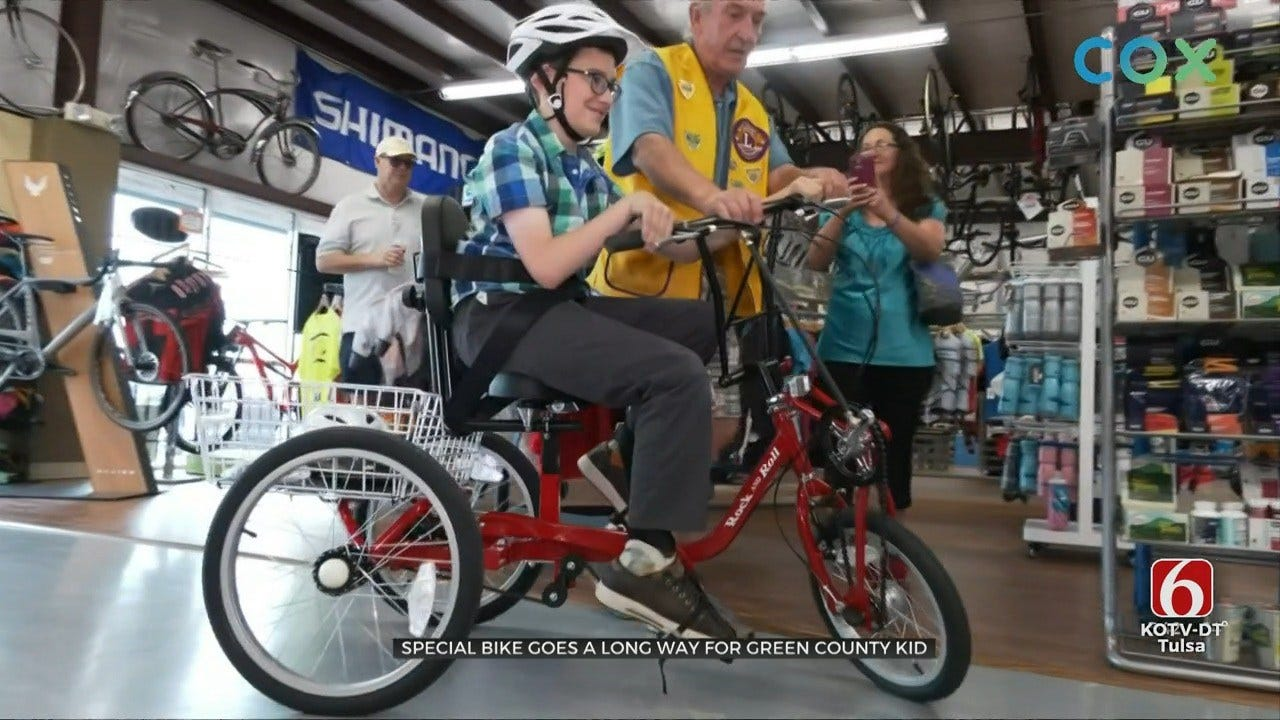 12-Year-Old With Cerebral Palsy Rides Bike For First Time Thanks To Tulsa Non-Profit