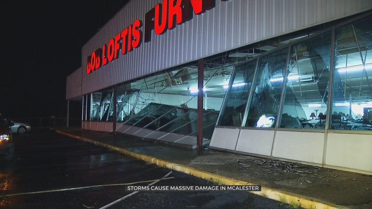 WOW: Wind Damage In McAlester After Tuesday Storm