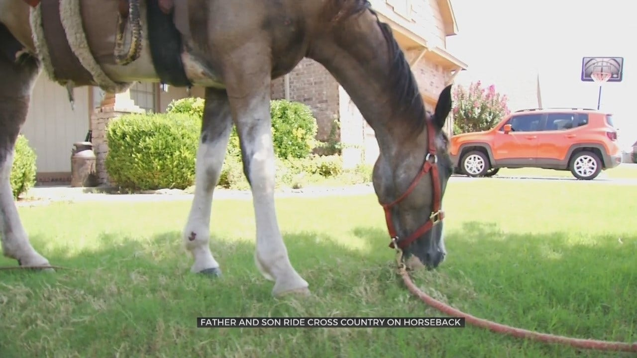 Father & Son Travel 4 States By Horseback To Reach Oklahoma