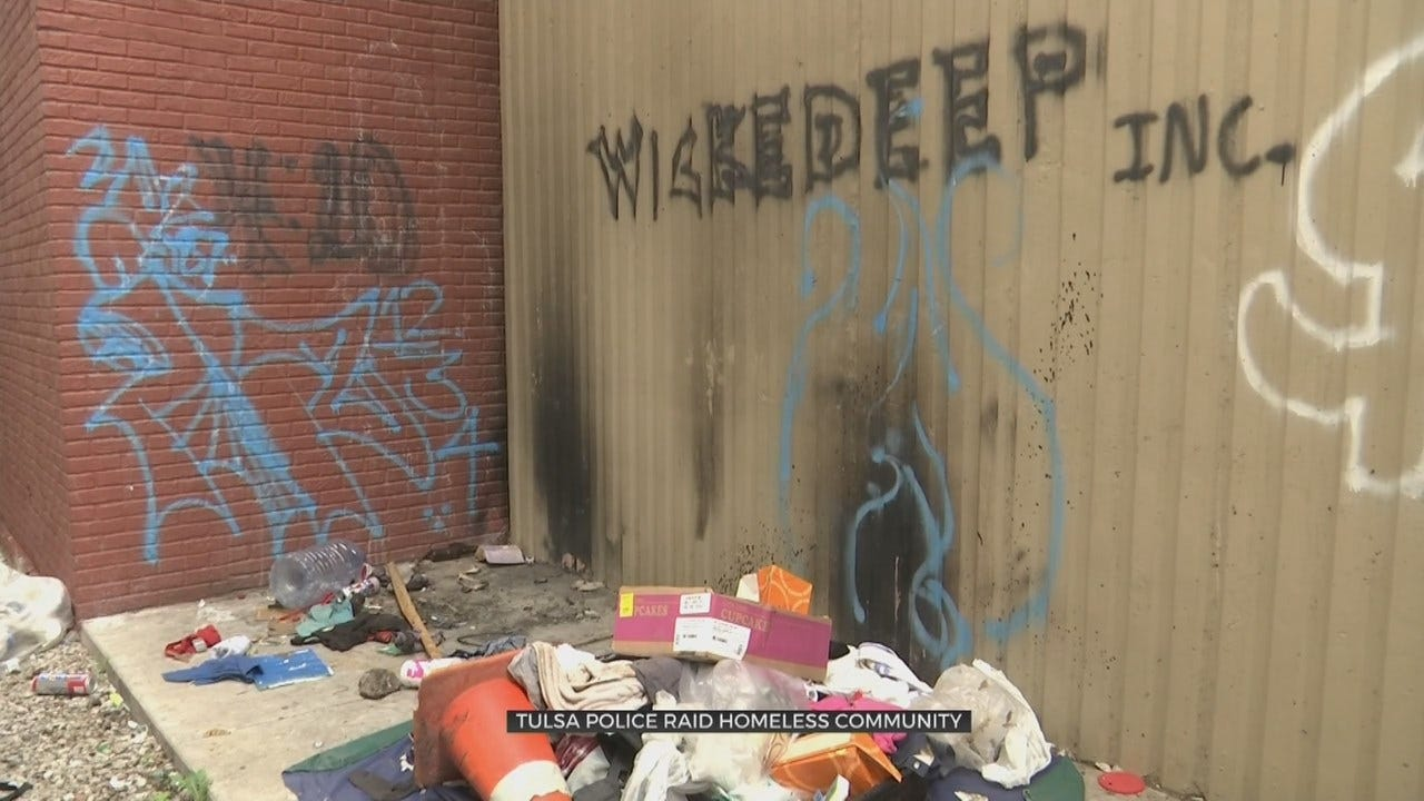 Homeless Camp Causes Health Hazards In Downtown Tulsa