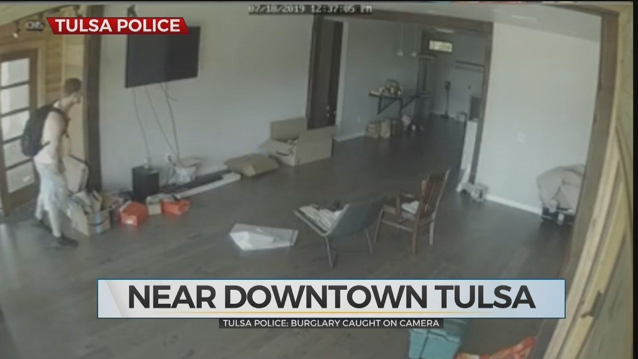 WATCH: Tulsa Police Search For Man Caught On Camera Breaking Into Home