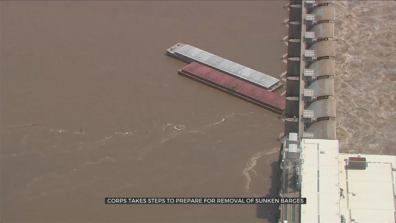 Barge Recovery Underway In Arkansas River