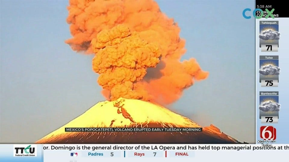 WATCH: Volcano In Mexico Erupts