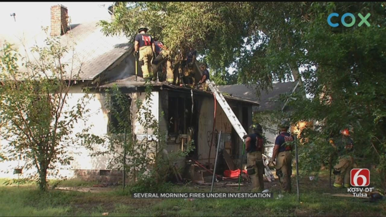 Tulsa Firefighters Investigating After Responding To Multiple Fires Sunday