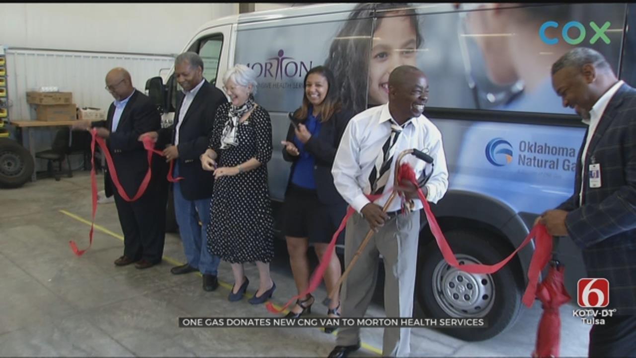 Tulsa Gas Company Donates Van To Morton Health Services