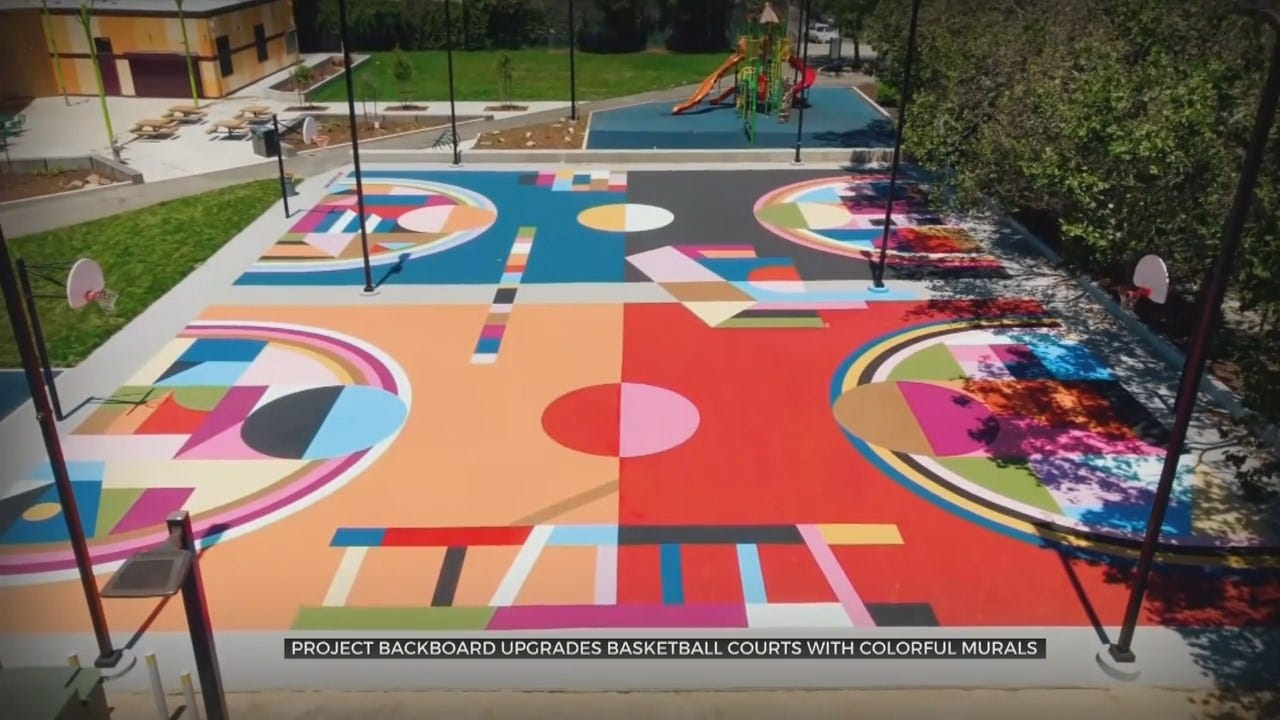 WATCH: Group Turns Basketball Courts Into Works Of Art