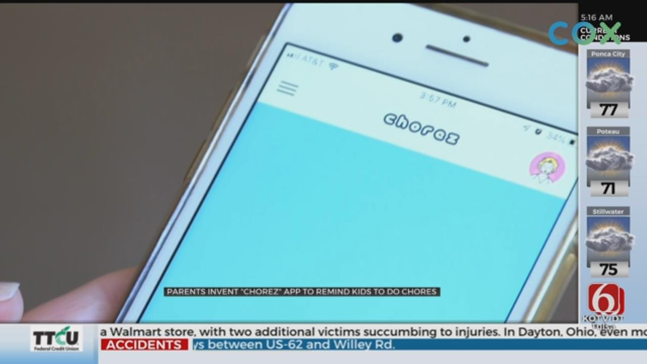 New App Helps Kids Complete Chores