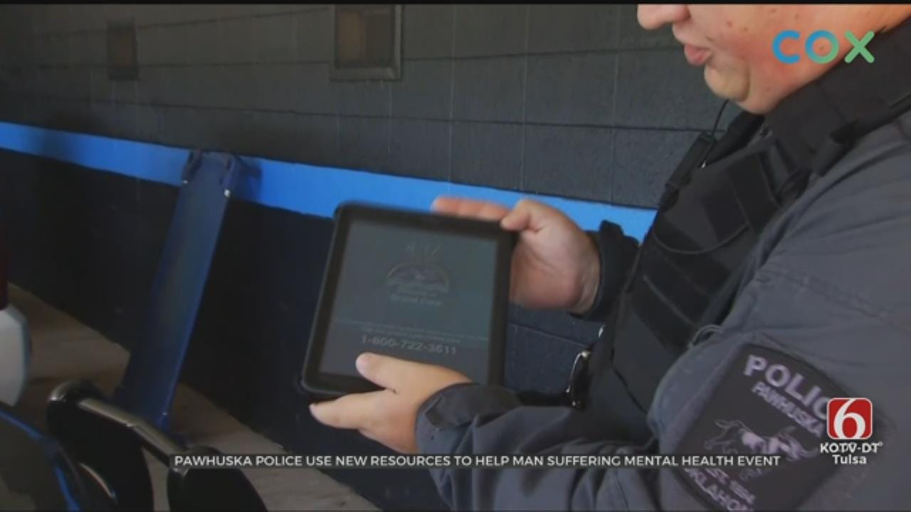 Pawhuska PD Using Tablets to Connect People to Mental Health Professionals