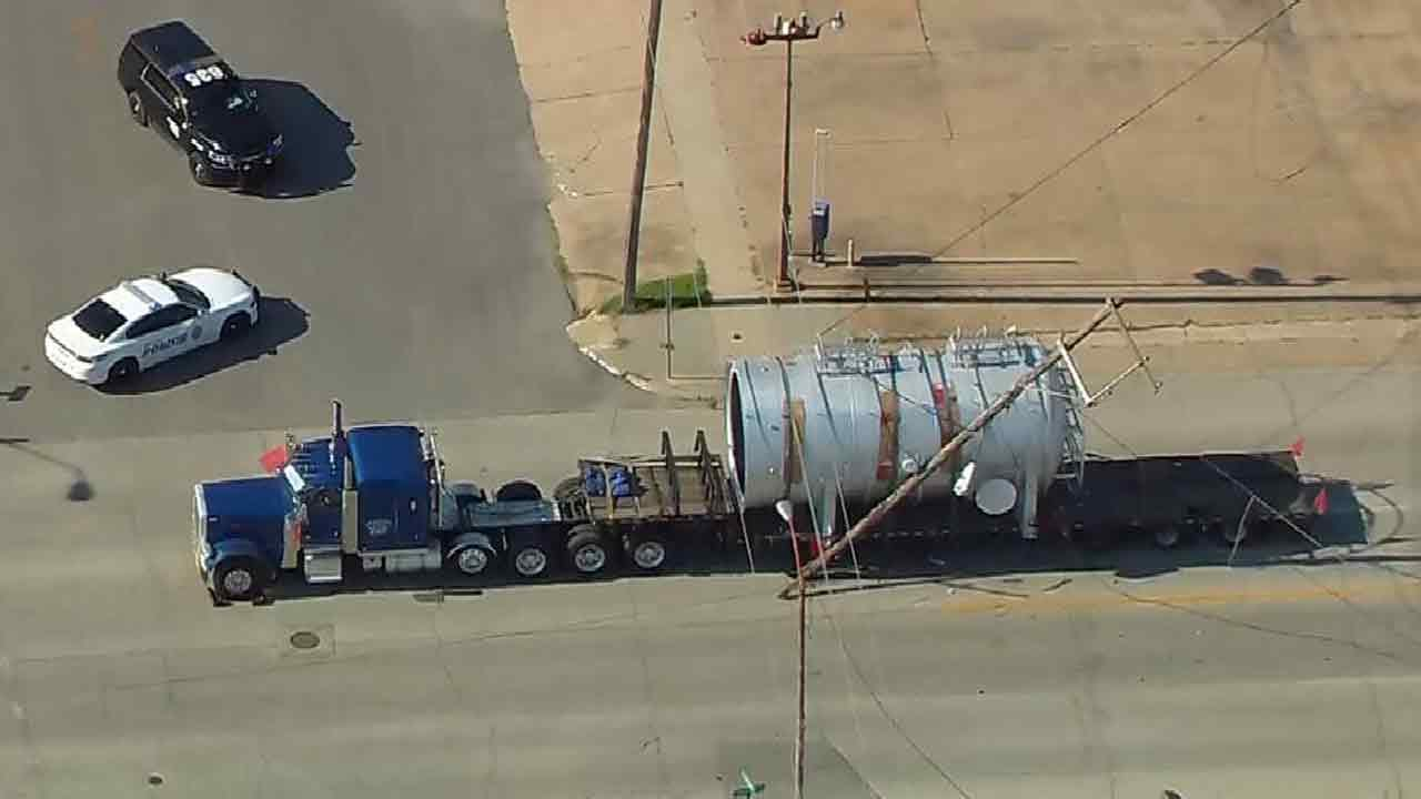 Osage SkyNews 6 HD: Oversize Load Takes Out Sapulpa Utility Poles