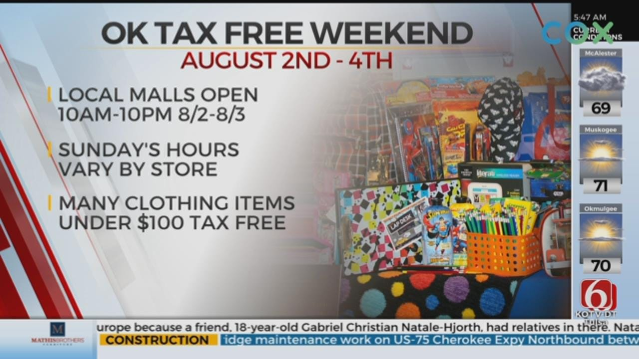 Tax Free Weekend Approaching Oklahoma