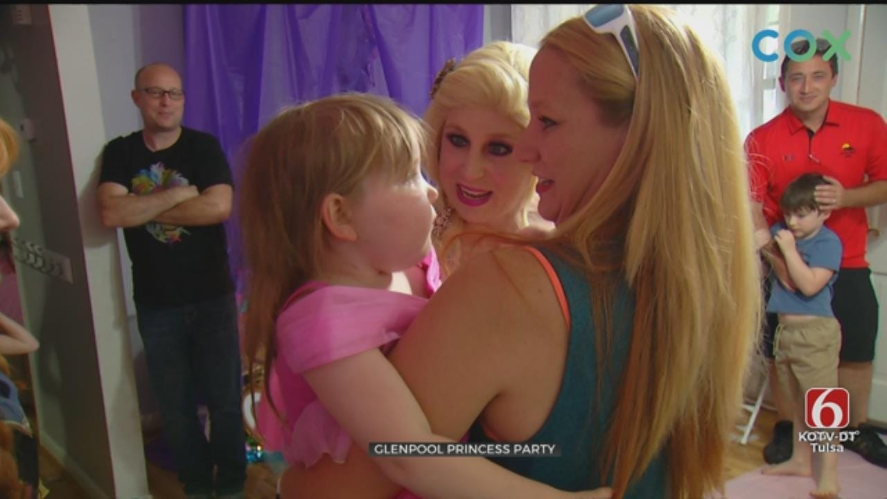 Glenpool Family Throws Princess Party For Daughter Diagnosed With Brain Tumor