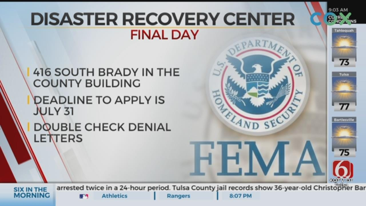 Deadline To Register For FEMA Assistance Is July 31st