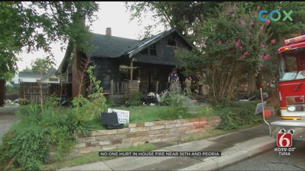 Tulsa House Fire Erupts Near 36th And Peoria