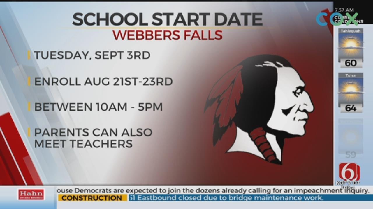 Webbers Falls Sets School Start Date Following Flooding