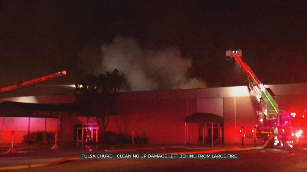 Tulsa Church Heavily Damaged By Fire