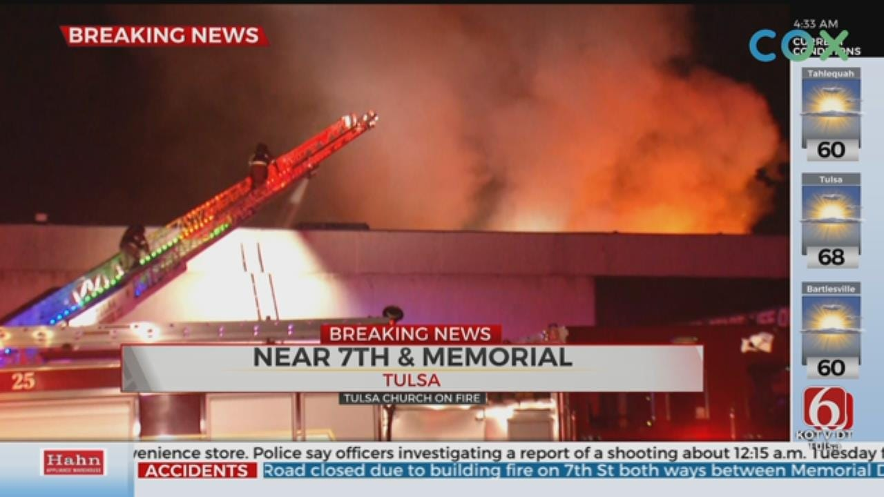 Church Fire Erupts Near 7th And Memorial