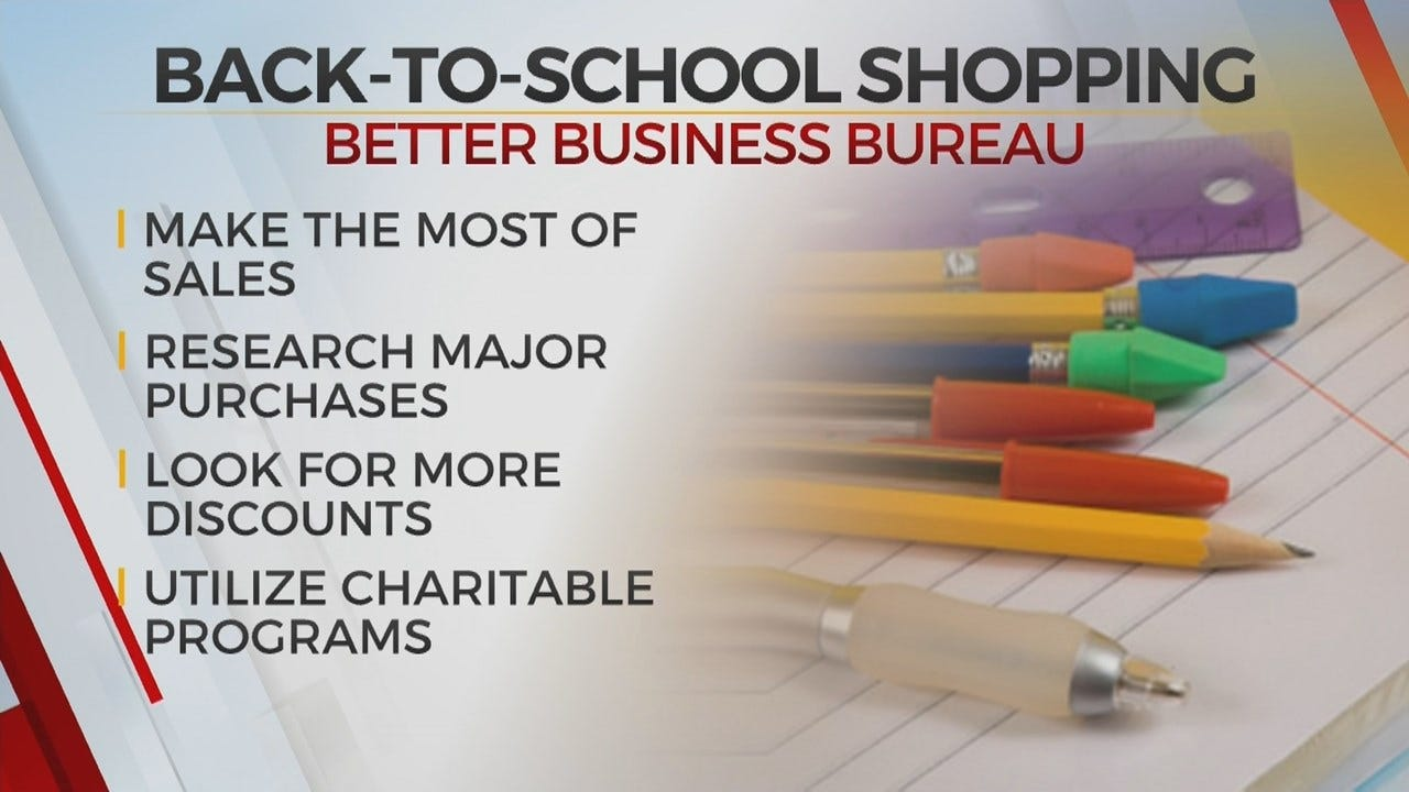 Back To School Shopping Tips From Tulsa Better Business Bureau