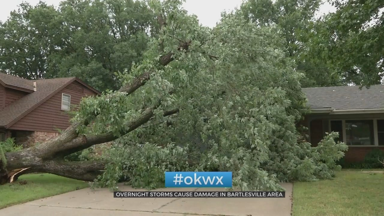 Powerful Winds Leave Storm Damage In Bartlesville