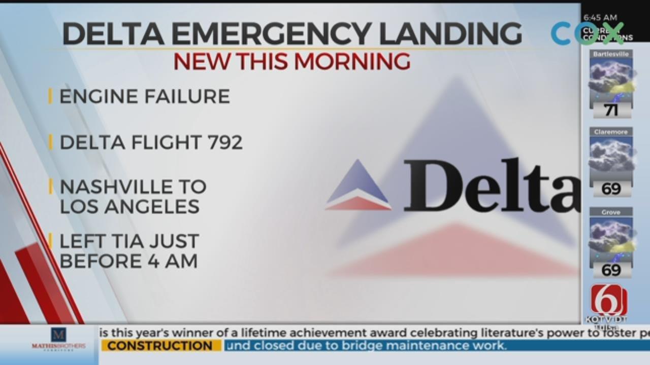 Delta Flight Makes Emergency Landing In Tulsa