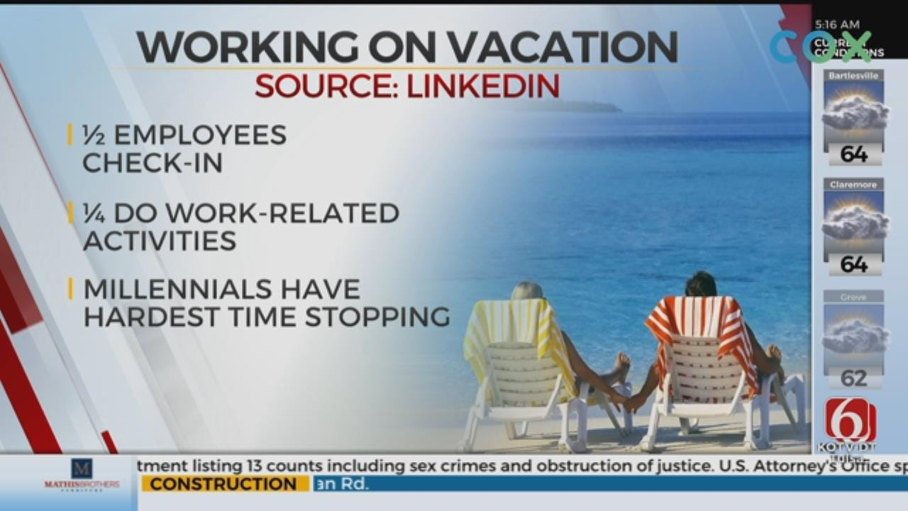 Survey Shows Too Many People Work On Vacation